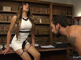 Boss Tranny Anal Bangs Supplicant Heavens Table